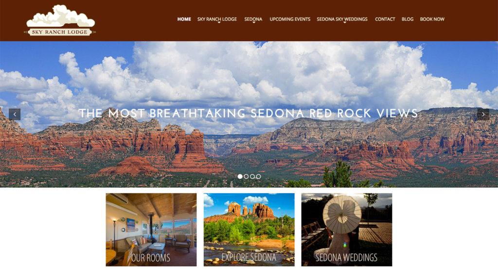 Website for Sky Ranch Lodge in Sedona Arizona - Hillman Design Group, Cottonwood, AZ